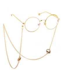 Fashion Gold Non-slip Metal Letter Rhinestone Glasses Chain