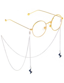 Fashion Silver Chain Hanging Neck Flashing Glasses Chain