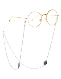 Fashion Silver Palm Eye Pattern Metal Glasses Chain