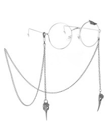 Fashion Silver Hollow Beak Anti-slip Glasses Chain