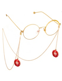 Fashion Red Non-slip Metal Tomato Glasses Chain