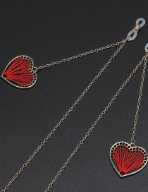 Fashion Red Non-slip Metal Winding Heart-shaped Glasses Chain