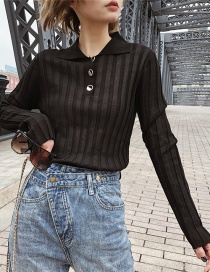 Fashion Black Semi-perspective Sweater