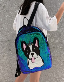 Fashion Dog Green Cartoon Sequin Backpack