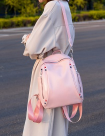 Fashion Pink Double Zippered Shoulder Bag