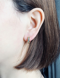 Fashion Er0086-a Color Matching Micro Inlaid Zircon Earrings