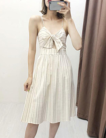 Fashion White Stripe Striped Dress