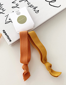 Fashion Orange/two Pieces Knotted High Elastic Hair Band