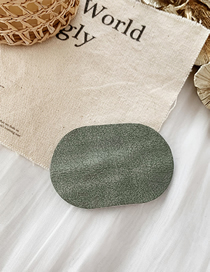 Fashion Suede Section - Gray Green Suede-like Elliptical Hair Clip