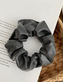 Fashion Black Ash Pu Skin Large Intestine Ring Hair Rope