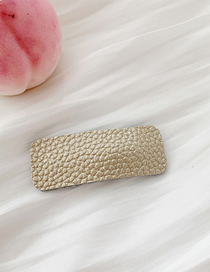 Fashion Litchi Pattern - Light Gold Pu Leather Geometric Hairpin