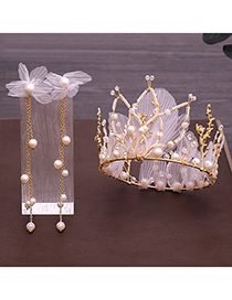 Fashion Gold Crepe Full Circle Crown