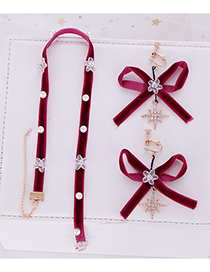 Fashion Red Necklace Earrings Set