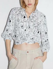 Fashion White Knotted Top