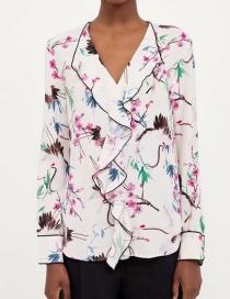 Fashion White Ruffled Shirt