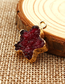 Fashion Red Wine Diy Resin Imitation Natural Stone Star Accessories
