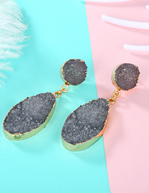 Fashion Gray Imitation Natural Stone Earrings