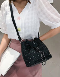 Fashion Black Studded Shoulder Bag
