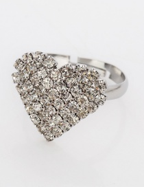 Fashion Silver Love Diamond Ring