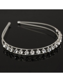 Fashion Silver Diamond Headband