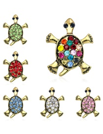 Fashion Gold Alloy Diamond Turtle Brooch 6 Pack