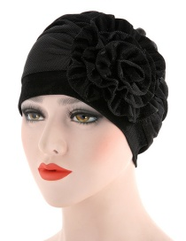 Fashion Black Side Flower Flower Baotou Cap