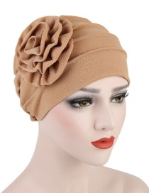 Fashion Khaki Side Decal Flower Head Cap