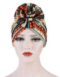 Fashion Orange Flower Turban Cap