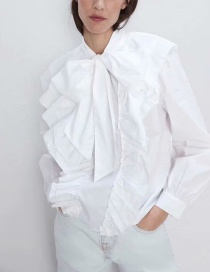 Fashion White Bow Tie Shirt