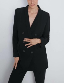 Fashion Black Dress Collar Blazer
