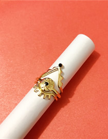 Fashion Golden Suit Eye Three-in-one Splittable Ring