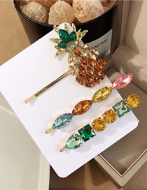 Fashion Colored Set Pineapple-studded Hair Clip