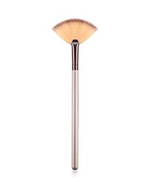 Fashion Champagne Gold Single Small Fan-shaped Makeup Brush