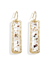 Fashion Gold Epoxy Sequin Geometry Earrings