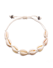 Fashion White Natural Shell Anklet
