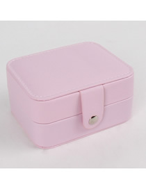 Fashion Pink Leather Jewelry Storage Box Trumpet
