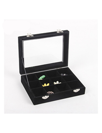 Fashion Black Velvet 12 Jewelry Box With Lid