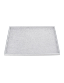 Fashion Large Empty Plate Ice Velvet 60x40cm Jewelry Display Tray