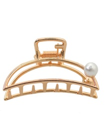 Fashion Gold Geometric Alloy Curved Pearl Large Grab