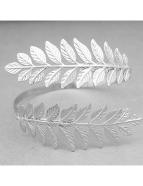 Fashion Silver Metal Leaf Armband