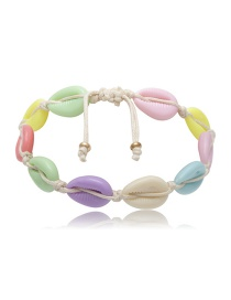 Fashion Color Geometric Colored Shell Anklet