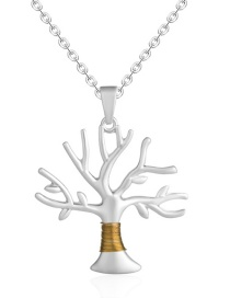 Fashion Life Tree Life Tree Round Gold Necklace
