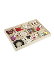 Fashion Burlap Jewelry Plate 12 Plaid Burlap Jewelry Display Tray