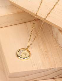 Fashion Gold Star Moon Necklace