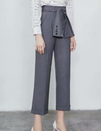 Fashion Gray Suit Pants