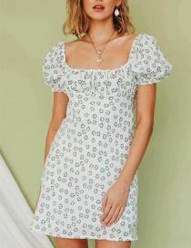 Fashion White Printed Dress
