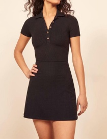 Fashion Black Knit Dress
