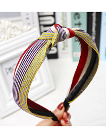 Fashion Yellow Rainbow Headband Rainbow Stripe Ribbon Headband