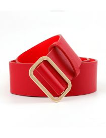 Fashion Red Non-porous Body Belt