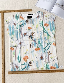Fashion Color Printed Sleeveless Top